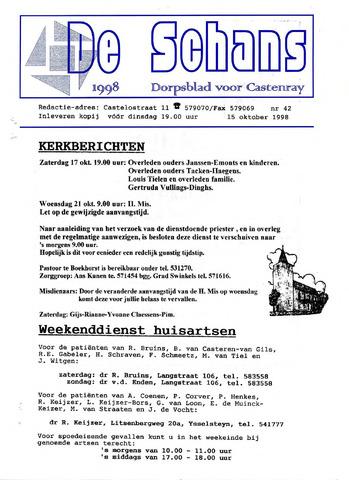 Castenrays dorpsblad De Schans 1998-10-15