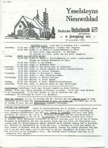 Ysselsteyns Nieuwsblad 1979-11-23