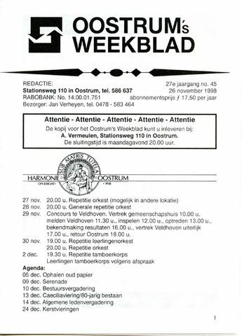 Oostrum's Weekblad 1998-11-26