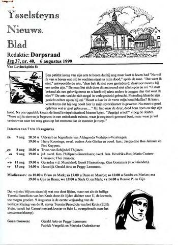 Ysselsteyns Nieuwsblad 1999-08-06