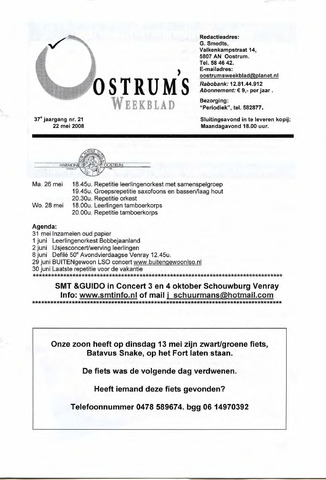 Oostrum's Weekblad 2008-05-22