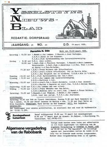 Ysselsteyns Nieuwsblad 1986-03-14