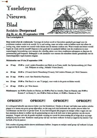 Ysselsteyns Nieuwsblad 1998-09-18