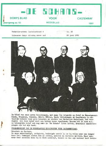 Castenrays dorpsblad De Schans 1981-06-26