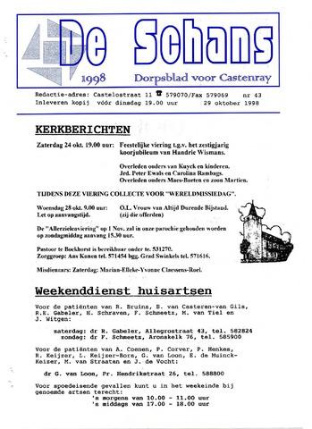 Castenrays dorpsblad De Schans 1998-10-22