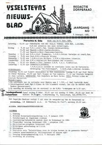 Ysselsteyns Nieuwsblad 1985-02-08