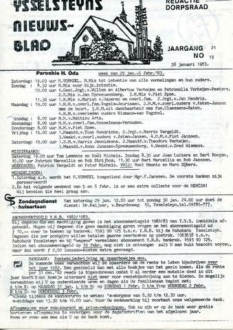 Ysselsteyns Nieuwsblad 1983-01-28