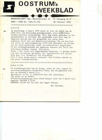 Oostrum's Weekblad 1979-02-22