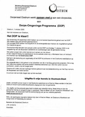 Oostrum's Weekblad 2005-10-01