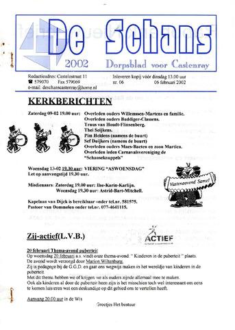Castenrays dorpsblad De Schans 2002-02-06