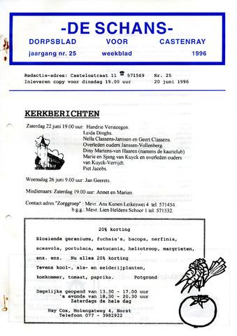 Castenrays dorpsblad De Schans 1996-06-20