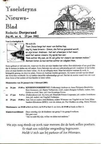 Ysselsteyns Nieuwsblad 2002-01-25