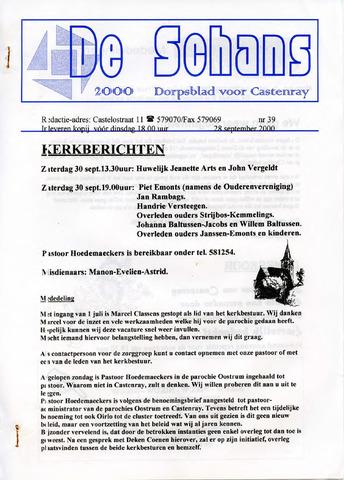 Castenrays dorpsblad De Schans 2000-09-28