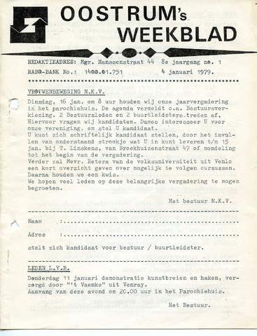 Oostrum's Weekblad 1979