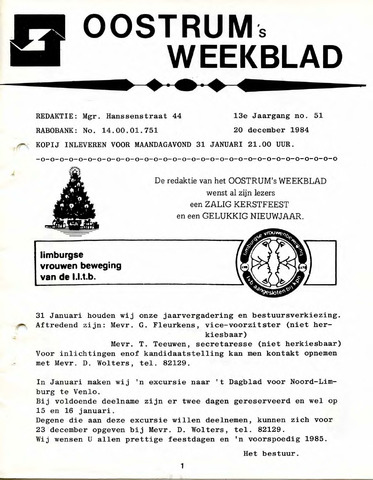 Oostrum's Weekblad 1984-12-20