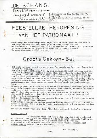 Castenrays dorpsblad De Schans 1971-11-26