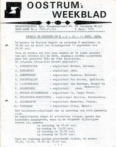 Oostrum's Weekblad 1979-09-06
