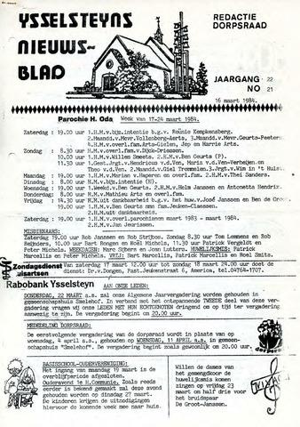 Ysselsteyns Nieuwsblad 1984-03-16