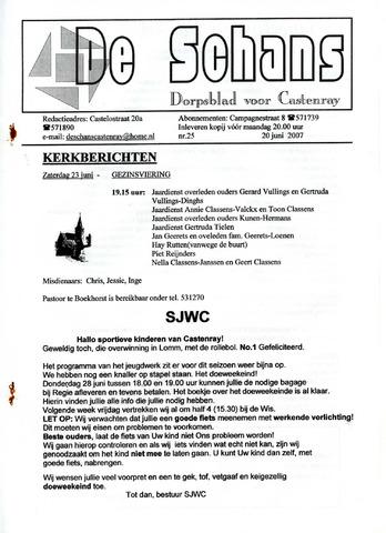 Castenrays dorpsblad De Schans 2007-06-20