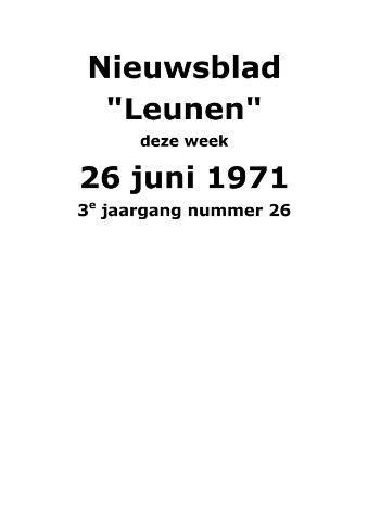 Dorpsblad Leunen-Veulen-Heide 1971-06-26