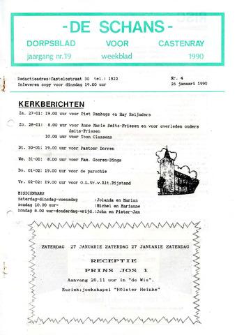 Castenrays dorpsblad De Schans 1990-01-26