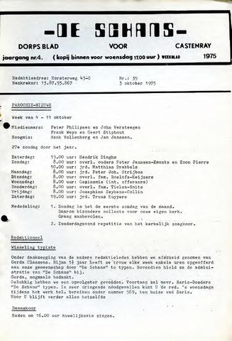 Castenrays dorpsblad De Schans 1975-10-03