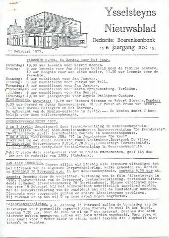 Ysselsteyns Nieuwsblad 1977-02-11