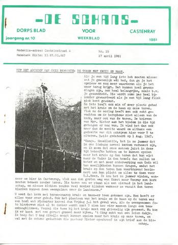 Castenrays dorpsblad De Schans 1981-04-17