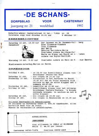 Castenrays dorpsblad De Schans 1992-10-09