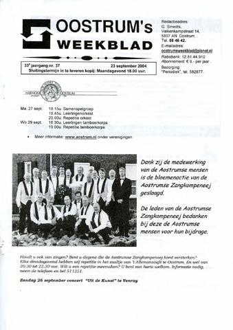 Oostrum's Weekblad 2004-09-23
