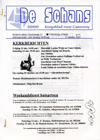 Castenrays dorpsblad De Schans 2000-10-12