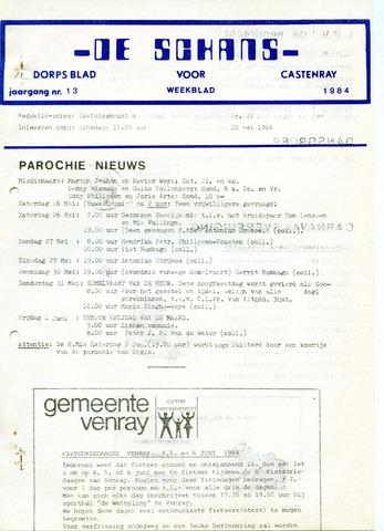 Castenrays dorpsblad De Schans 1984-05-25