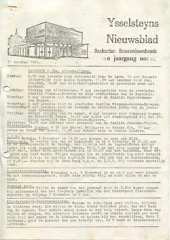 Ysselsteyns Nieuwsblad 1975-10-31