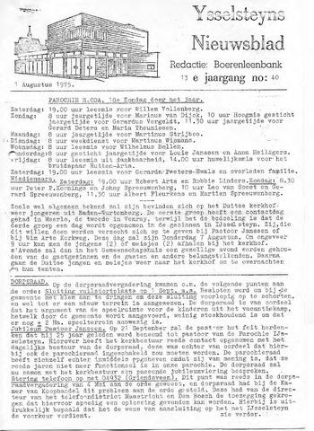 Ysselsteyns Nieuwsblad 1975-08-01