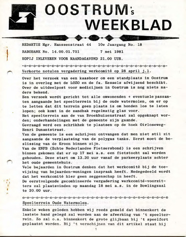 Oostrum's Weekblad 1981-05-07