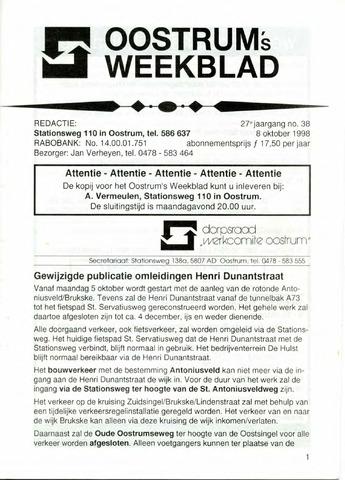Oostrum's Weekblad 1998-10-08