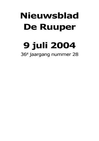 Dorpsblad Leunen-Veulen-Heide 2004-07-09