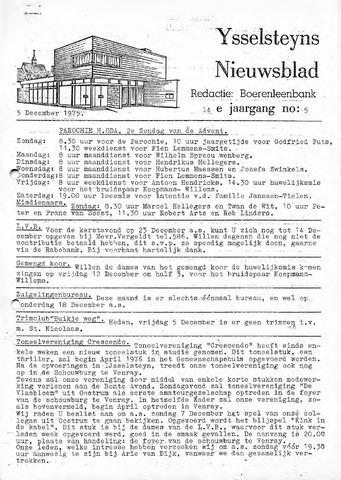 Ysselsteyns Nieuwsblad 1975-12-05
