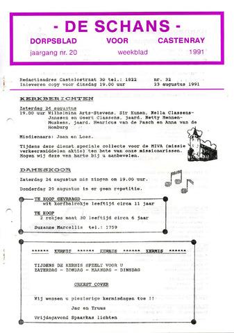 Castenrays dorpsblad De Schans 1991-08-23