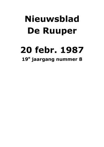 Dorpsblad Leunen-Veulen-Heide 1987-02-20
