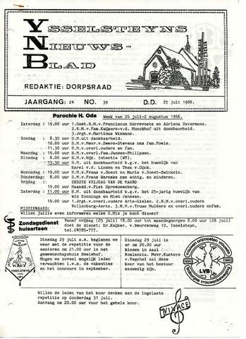 Ysselsteyns Nieuwsblad 1986-07-25