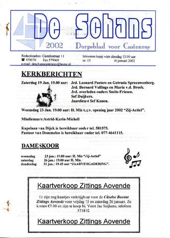 Castenrays dorpsblad De Schans 2002-01-16