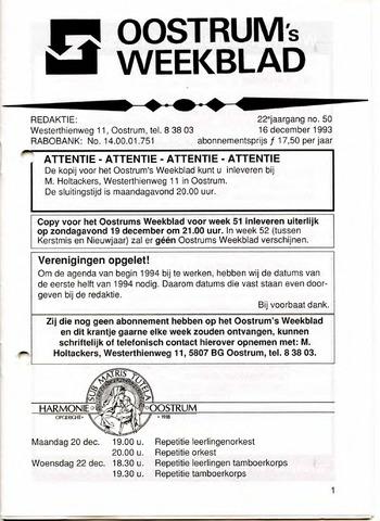 Oostrum's Weekblad 1993-12-16