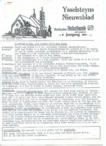 Ysselsteyns Nieuwsblad 1977-10-07
