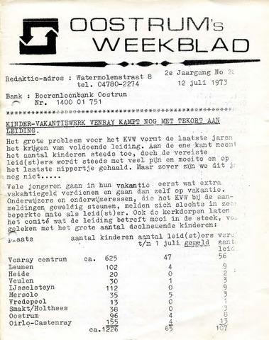 Oostrum's Weekblad 1973-07-12