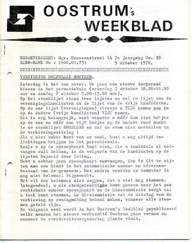 Oostrum's Weekblad 1978-10-05