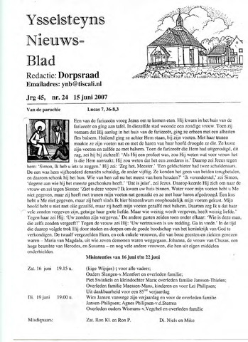 Ysselsteyns Nieuwsblad 2007-06-15