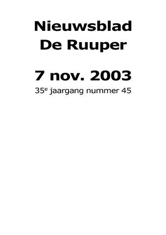 Dorpsblad Leunen-Veulen-Heide 2003-11-07