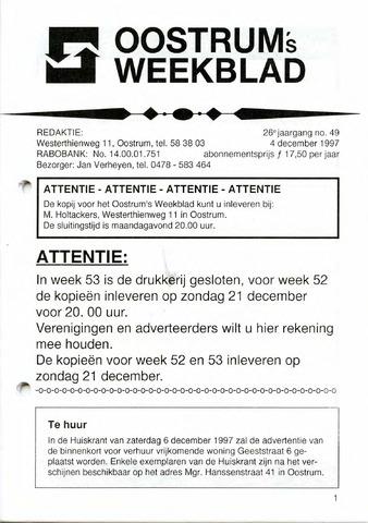 Oostrum's Weekblad 1997-12-04