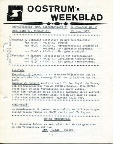 Oostrum's Weekblad 1977-01-13